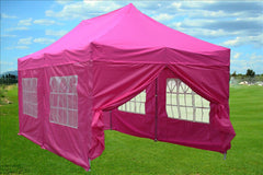 F Model 10'x20' Pink - Pop Up Tent Pro
