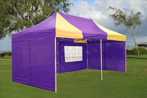 E Model 10'x20' Purple Yellow - Pop Up Tent