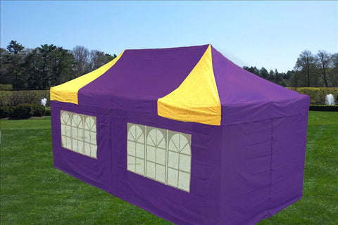 F Model 10'x20' Purple Yellow - Pop Up Tent Pro