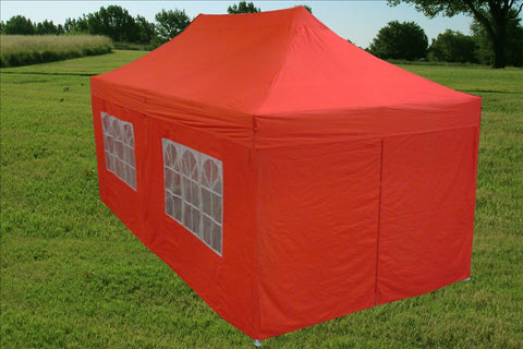 E Model 10'x20' Red - Pop Up Tent