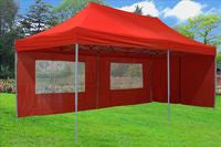 F Model 10'x20' Red - Pop Up Tent Pro
