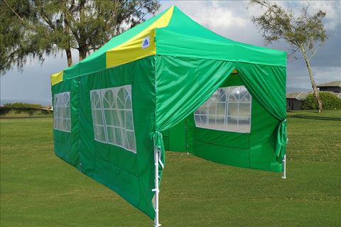 E Model 10'x20' Green Yellow - Pop Up Tent