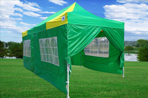 F Model 10'x20' Green Yellow - Pop Up Tent Pro