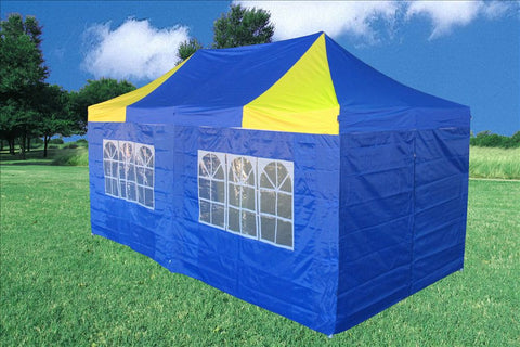 F Model 10'x20' Blue Yellow - Pop Up Tent Pro
