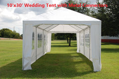 PE Wedding Tent 10'x30', 12'x30' & 15'x30' - WDMT with Metal Connectors