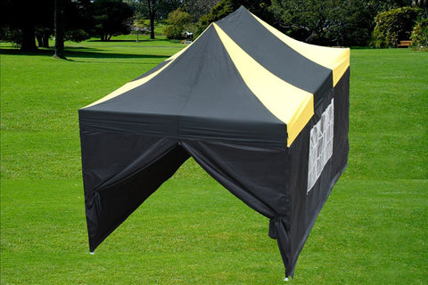 F Model 10'x15' Black Yellow - Pop Up Tent  Pro
