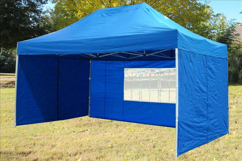 F Model 10'x15' Blue - Pop Up Tent Pro