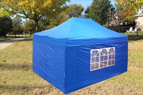 E Model 10'x15' Blue - Pop Up Tent