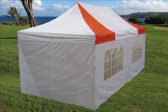 E Model 10'x20' Red White - Pop Up Tent