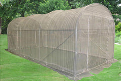 Greenhouse 15'x7'+Sun Shade Cover  - Walk-in Nursery