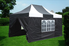 E Model 10'x15' Black White - Pop Up Tent