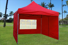 E Model 10'x10' Red - Pop Up Tent
