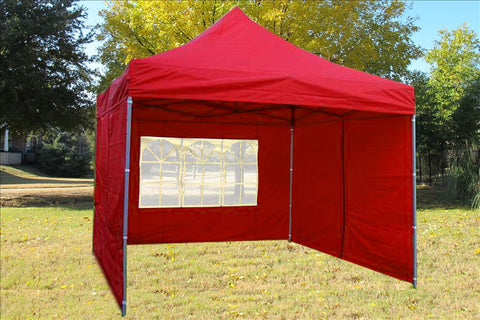 F Model 10'x10' Red - Pop Up Tent Pro