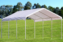 PE Carport Shelter - Two Sizes Available - 18'x20', 18'x27'