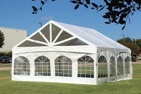 20'x20' PVC Marquee - Heavy Duty Party Tent Wedding Canopy Gazebo Shelter w Storage Bags