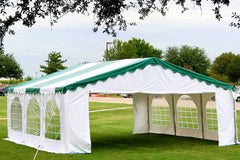 20'x20' Budget PVC Party Tent Canopy Shelter - Green White, Red White