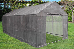 Greenhouse 20'x10'+Sun Shade Cover - Triangle Top Walk-in Nursery