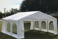 Budget PE Party Tent 20'x16' with Waterproof Top - White