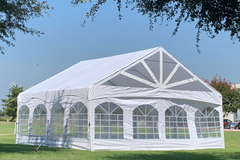 20'x20' PE Marquee - Heavy Duty Party Tent Wedding Canopy Gazebo Shelter w Storage Bags