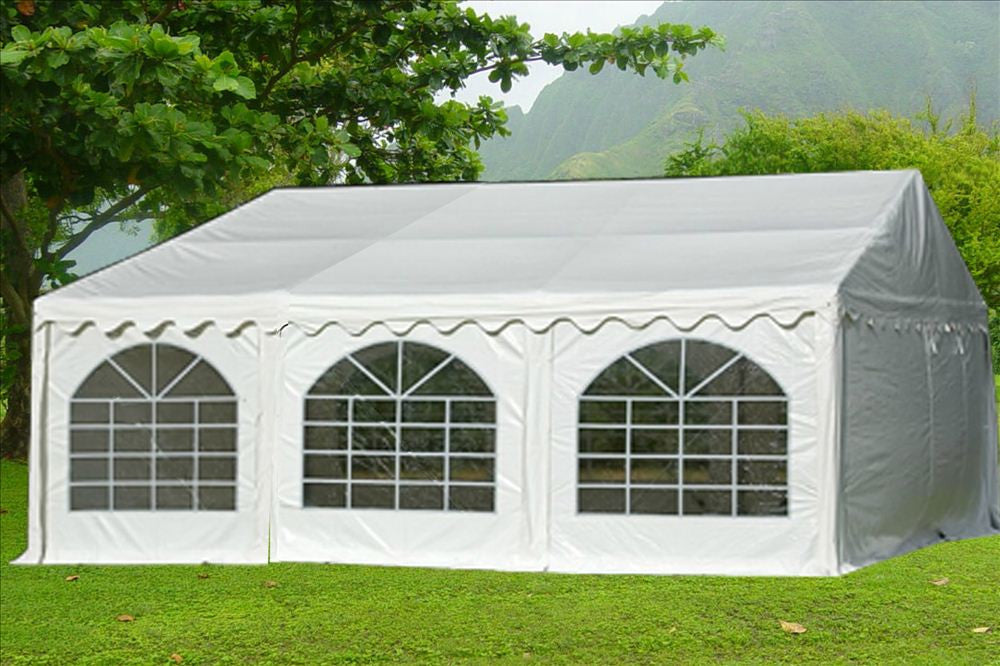 Pvc Party Tent 20x20 White Heavy Duty Deltacanopy