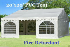 Fire Retardant PVC Wedding Party Tent Canopy Shelter White - 20'x20', 26'x20'