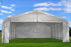 Carport 20'x22' Grey/White
