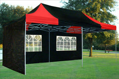 E Model 10'x20' Black Red - Pop Up Tent
