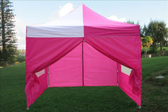 E Model 10'x10' Pink White - Pop Up Tent