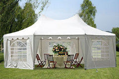 Poly Octagonal 22'x16' White - Party Tent