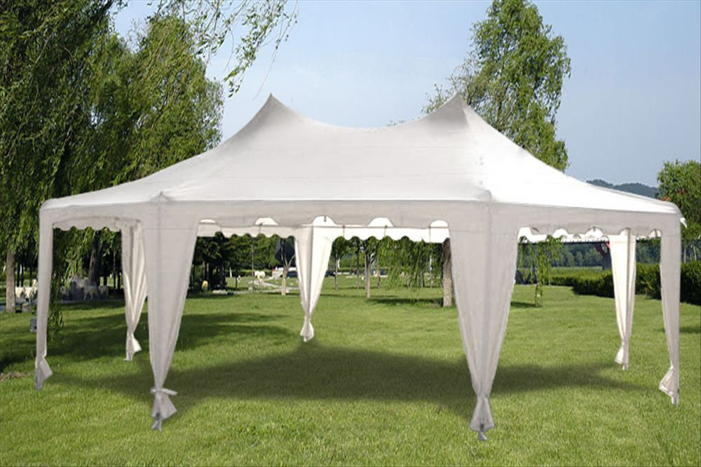 Poly Octagonal 22 X16 White Party Tent Deltacanopy