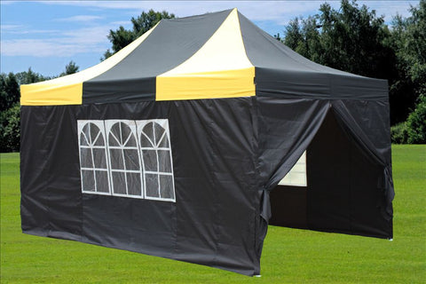 E Model 10'x15' Black Yellow - Pop Up Tent