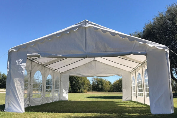 Budget Pe Party Tent 26 X16 With Waterproof Top White