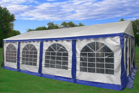 PE Party Tent 26'x16' Blue/White