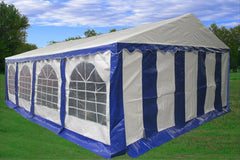 PE Party Tent 26'x16' - Blue/White