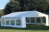 Budget PE Party Tent 26'x20' with Waterproof Top - White