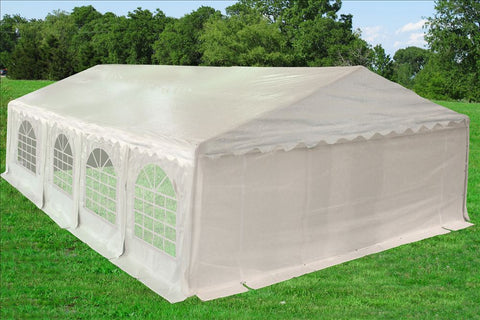 PE Party Tent 26'x20' with Waterproof Top - White