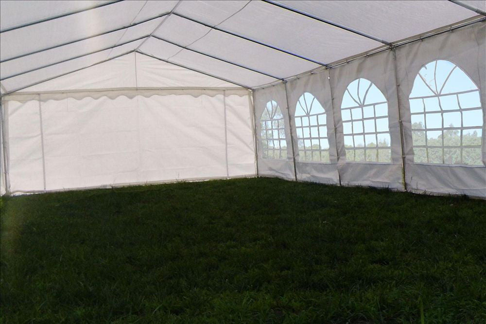Fire Retardant PVC Wedding Party Tent Canopy Shelter White - 26u0027x16u0027 ... & Fire Retardant PVC Wedding Party Tent Canopy Shelter White - 26 ...