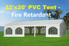 PVC Party Tent 32'x20' (FR) - White - Fire Retardant!