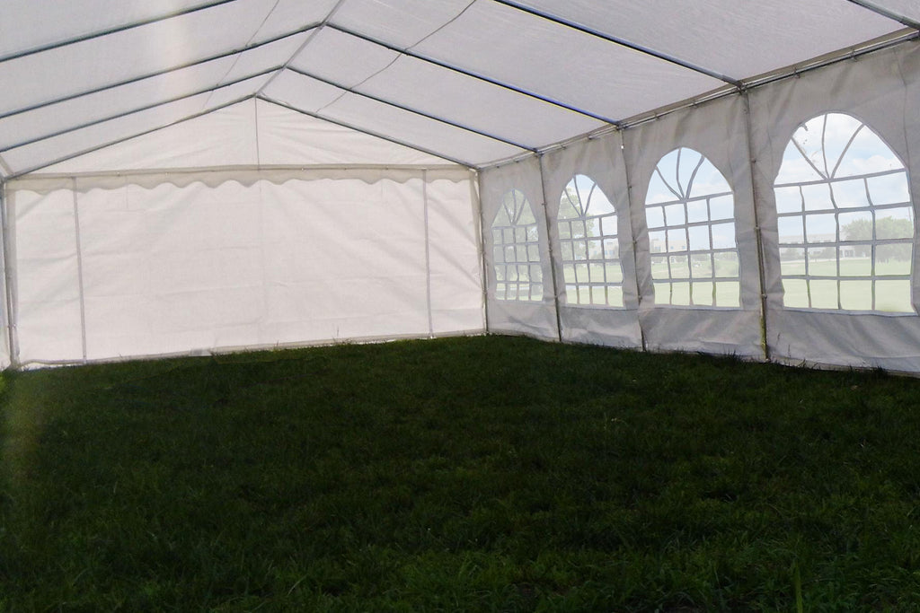 PE Party Tent 40u0027x16u0027 with Waterproof Top - White & 40u0027x16u0027 Waterproof PE Party Tent