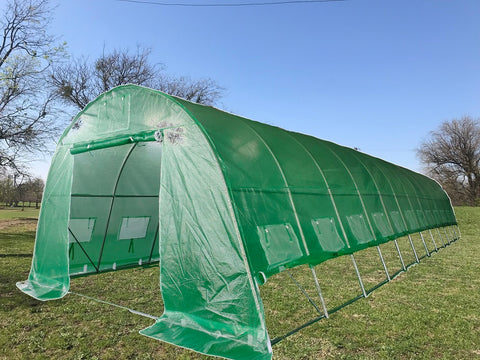 Greenhouse 40'x13' - Walk-in Nursery with Round Arch