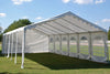 Budget PE Party Tent 40'x16' with Waterproof Top - White