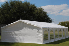 Budget PE Party Tent 40'x20' with Waterproof Top - White