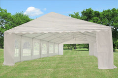 PE Party Tent 40'x20' with Waterproof Top - White