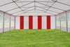 PE Party Tent 40'x20' - Blue, Green, Grey, Red