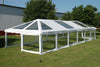 PVC Party Tent 60'x20' - Clear ComBi - NEW!