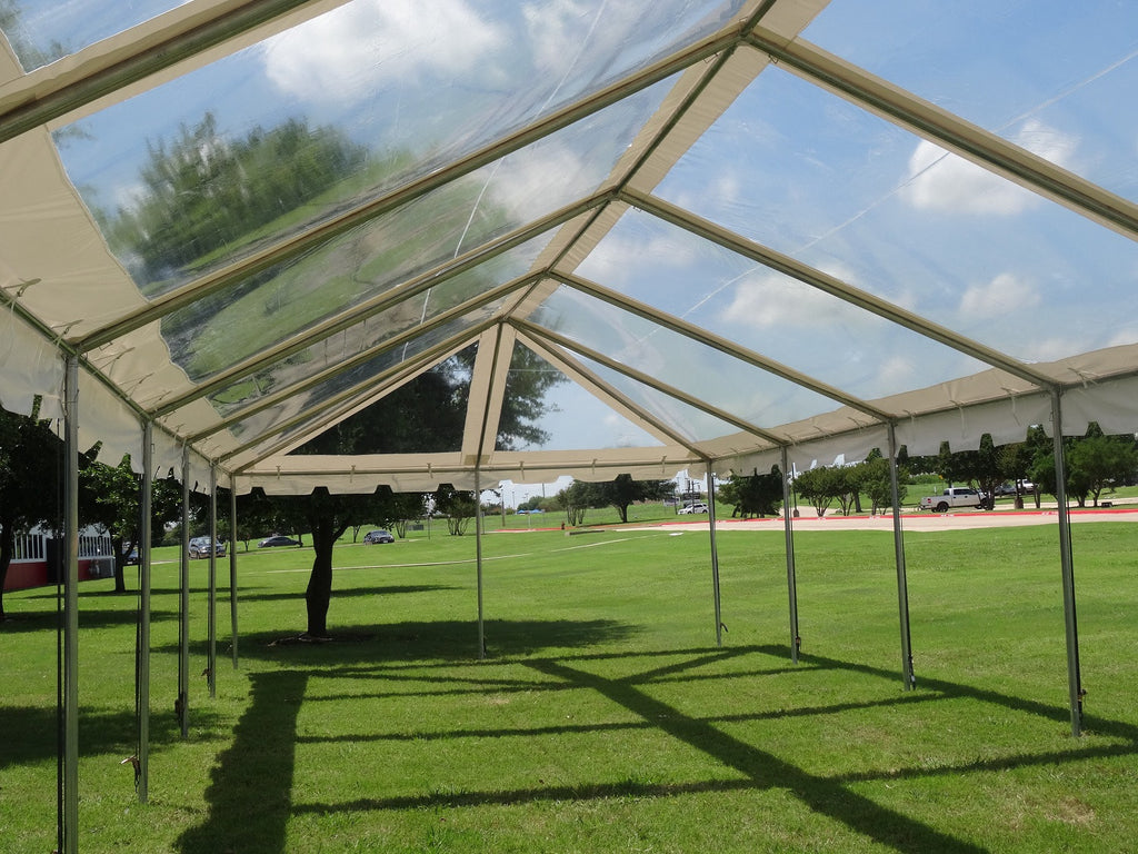 PVC Party Tent 60\'x20\' - Clear ComBi - NEW! – Deltacanopy