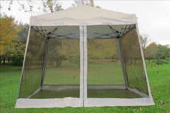 8'x8'/10'x10' White - Slant Leg w Net - Pop Up Tent