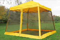 8'x8'/10'x10' Yellow - Slant Leg w Net - Pop Up Tent