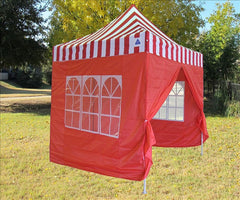 8'x8' Red Stripe - Pop Up Tent Basic