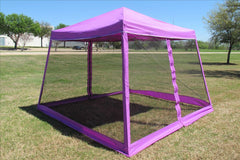 8'x8'/10'x10' Purple - Slant Leg w Net - Pop Up Tent